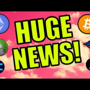 HUGE MOVE COMING FOR CRYPTOCURRENCY! WHALES BUYING ETHEREUM, BITCOIN, & MORE! CARDANO NEWS!